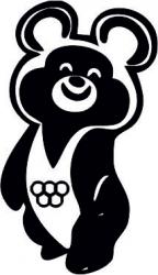 Наклейка Мишка олимпийский